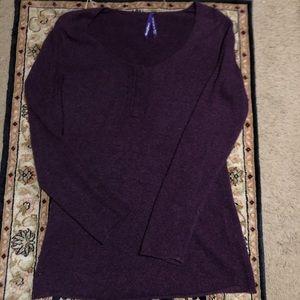 Seraphine wool purple nursing + maternity sweater